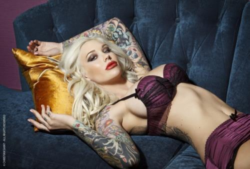 Sabina Kelley in lingerie