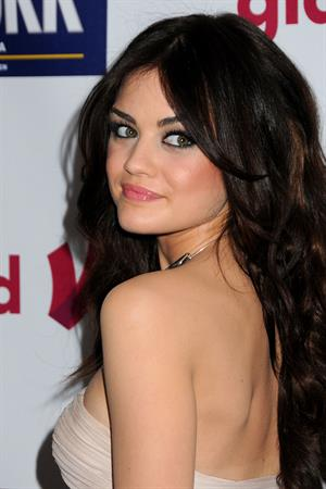 Lucy Hale at the GLAAD Awards in LA April 10, 2011