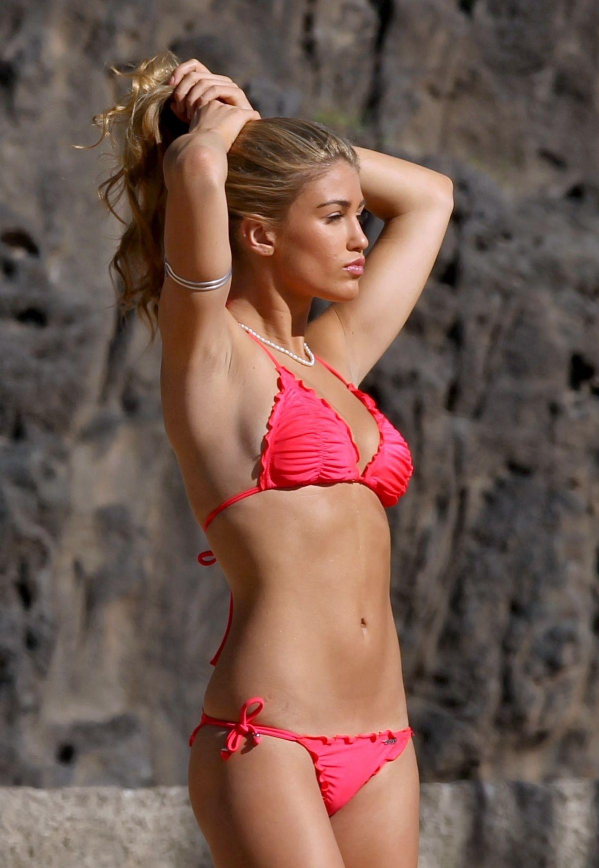 Amy Willerton in a bikini