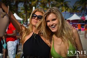 Model Beach Volleyball Tournament 2014 at Lummus Park, February 2014 with Joy Corrigan