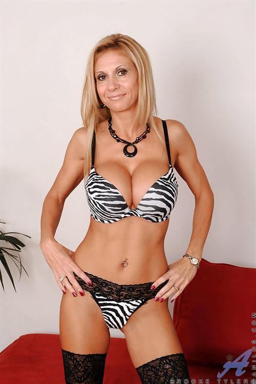 Brooke Tyler in lingerie