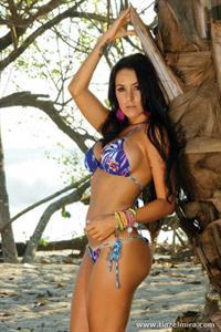 Marine Simoneau in a bikini