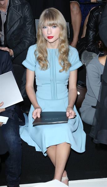 Taylor Swift at Elie Saab Spring Summer 2012/13 fashion show in Paris 10/3/12