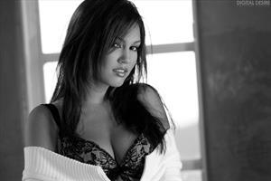 Kimberly Kato in lingerie