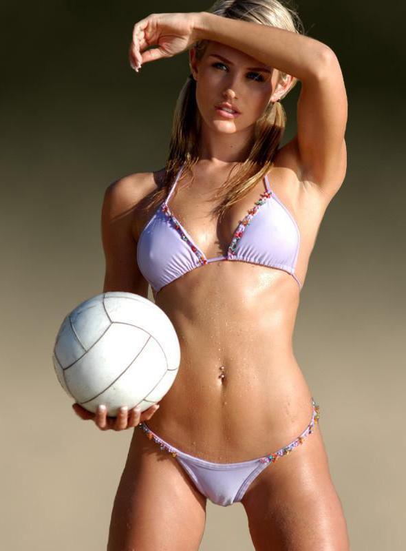 Nicky Whelan in a bikini - breasts