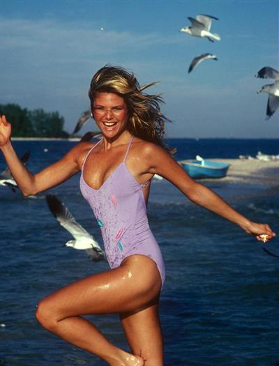 Christie Brinkley in a bikini