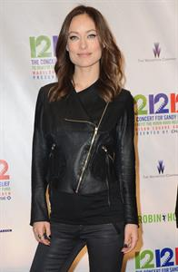 Olivia Wilde Hurricane Relief Concert in New York City - December 12, 2012
