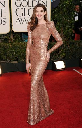 Anne Hathaway 68th Annual Golden Globe Awards December, 2011