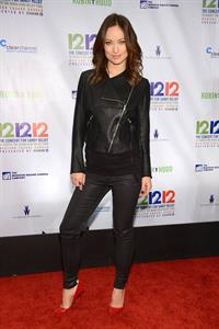 Olivia Wilde at the Hurricane Relief Concert in New York City - December 12, 2012