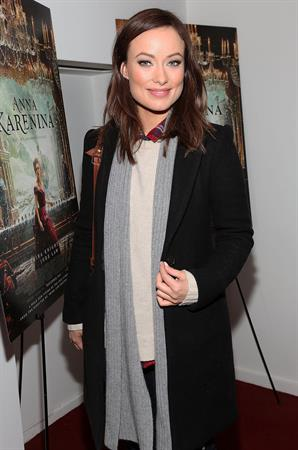 Olivia Wilde Anna Karenina screening in New York - November 7, 2012