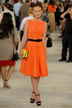 Olivia Wilde Ralph Lauren Spring 2013 fashion show, New York - September 13, 2012
