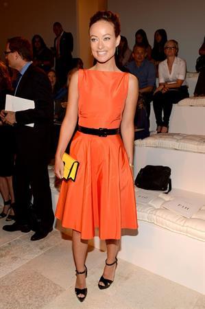 Olivia Wilde - Ralph Lauren Spring 2013 fashion show, New York - September 13,2012