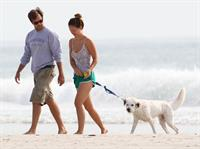 Olivia Wilde - on the beach in Wilmington,North Carolina - August 18 2012