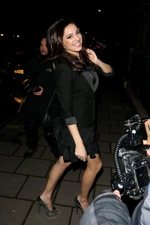 Kelly Brook arriving home after filming 'Celebrity Juice' in London 3/13/13