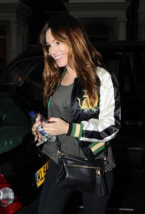 Kelly Brook outside her home in London - October 23, 2012