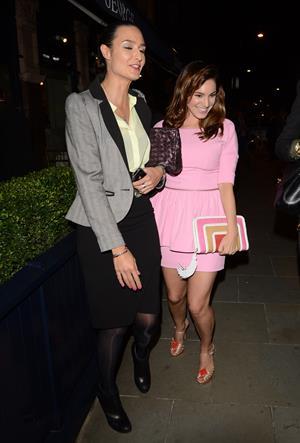 Kelly Brook dressed in pink in London - September 12, 2012
