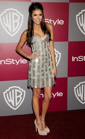 Nina Dobrev at the InStyle Warner Brothers Golden Globes party at the Beverly Hilton hotel on January 16, 2011