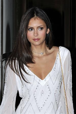 Nina Dobrev leaving her hotel in New York City an May 20, 2010