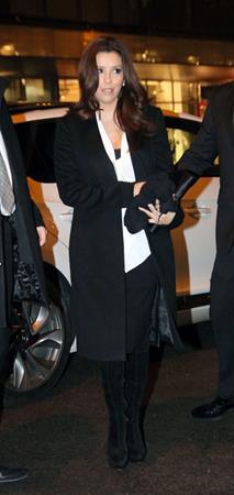 Eva Longoria out for dinner at Borchart Restaurant in Berlin 26.02.13