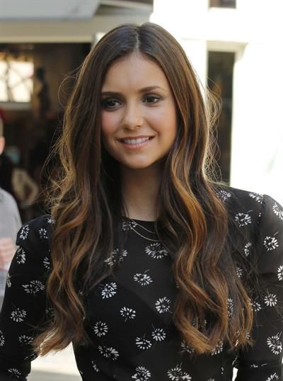 Nina Dobrev Visits  Etra  at The Grove in L.A. (September 28, 2012)
