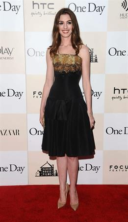 Anne Hathaway One Day Premiere in New York 8/8/2011