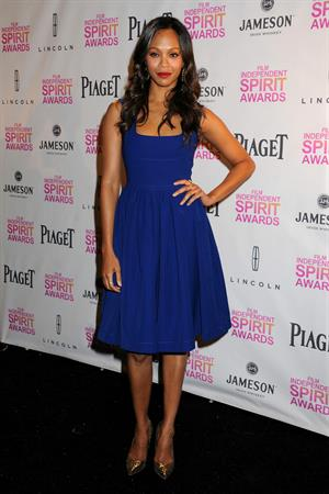 Zoe Saldana 2013 Film Independent Spirit Awards Nominations Press Conference at the W Hollywood on November 27, 2013