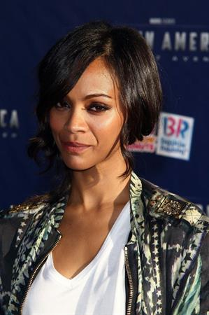Zoe Saldana  ''Captain America - The First Avenger'' Los Angeles Premiere July 19-2011