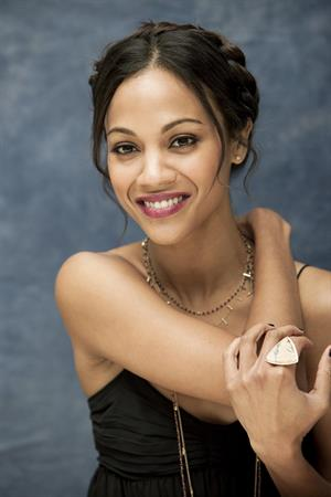 Zoe Saldana at Death At A Funeral press conference at the Four Seasons Hotel 11-04-2010