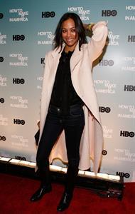 Zoe Saldana ''How To Make It In America'' Screening in NYC February 9, 2010