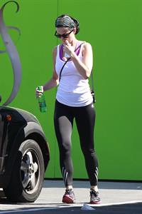 Katy Perry at the gym in Los Angeles on April 17, 2013