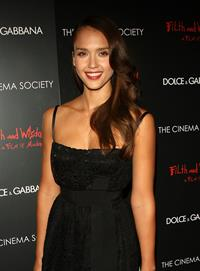 Jessica Alba Cinema Society and Dolce Gabbana hosted special screening of Filth and Wisdom in New York City
