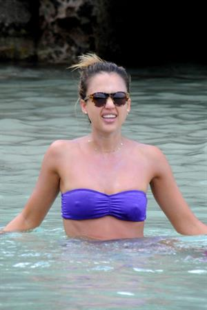 Jessica Alba on vacation in St Barts April 7-2013