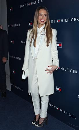 Jessica Alba attends the opening of Tommy Hilfiger's New West Coast Flagship Store in Los Angeles (13.02.2013)