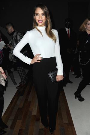Jessica Alba Valentino F/W 2013 fashion show in Paris 3/5/13
