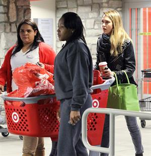 Jessica Alba Christmas shopping at Target in LA 12/20/12