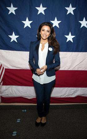 Eva Longoria Participates in Early Vote Canvass Kickoff in Florida - October 27, 2012
