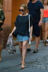 Kylie Minogue Out in Portofino 25.07.13