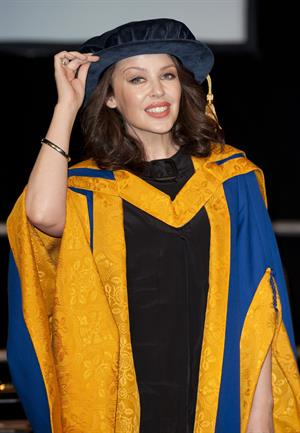 Kylie Minogue receiving an Honorary Doctor of Science in Health