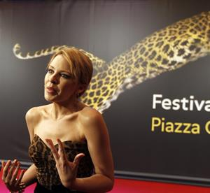 Kylie Minogue Swisscom of Honor To Leos Carath Locarno Film Feszival 03.08.12