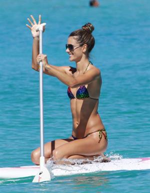 Alessandra Ambrosio in St Barth French West Indies on January 23, 2010