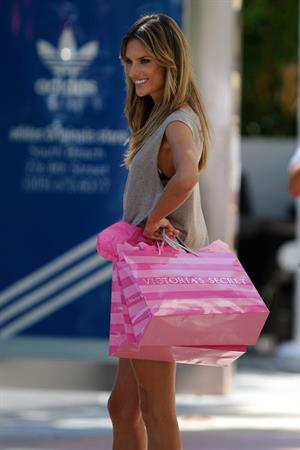 Alessandra Ambrosio outside a Victorias Secret store in Miami Beach