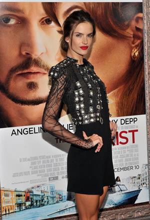 Alessandra Ambrosio premiere of the tourist in new york city 06 12 10