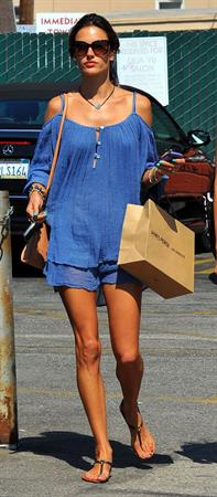Alessandra Ambrosio shopping at James Perse Brentwood on September 6, 2011