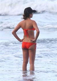 Lea Michele on the beach in Hawaii 1/1/13