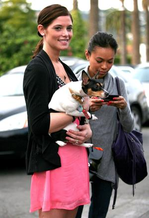 Ashley Greene and her dog Marlow out and about in Beverly Hills on January 15