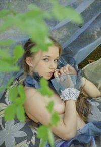 Taisiya Karpenko (Milena D) gets naked outside