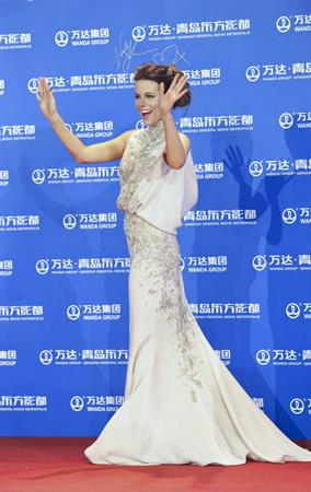 Kate Beckinsale Oriental Movie Metropolis red carpet show in Qingdao - September 22-2013