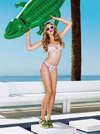 Valerie Van Der Graaf in a bikini