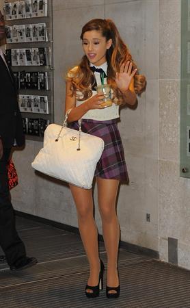 Ariana Grande - Arrives at BBC Radio1 Studio in London 07.11