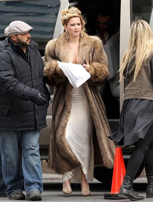 Jennifer Lawrence - On the set of an untitled movie, in Boston 4/1/2013